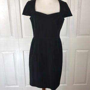 Banana Republic Black Cap Sleeve Sheath Dress